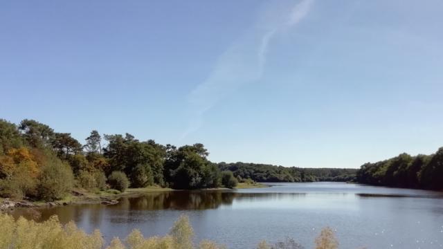 lac de Comper, château de cristal, fée Viviane, Concoret, Morbihan, Bretagne