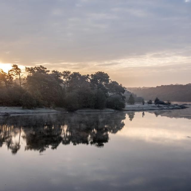 Lac de Viviane, château de Comper, Concoret. Bretagne