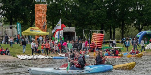 Canoë kayak au lac au duc - Festival Brocéliande Sport Nature