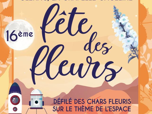 Affiche fête des fleurs 2019