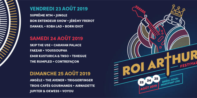 Programmation 2019 Festival du Roi Arthur