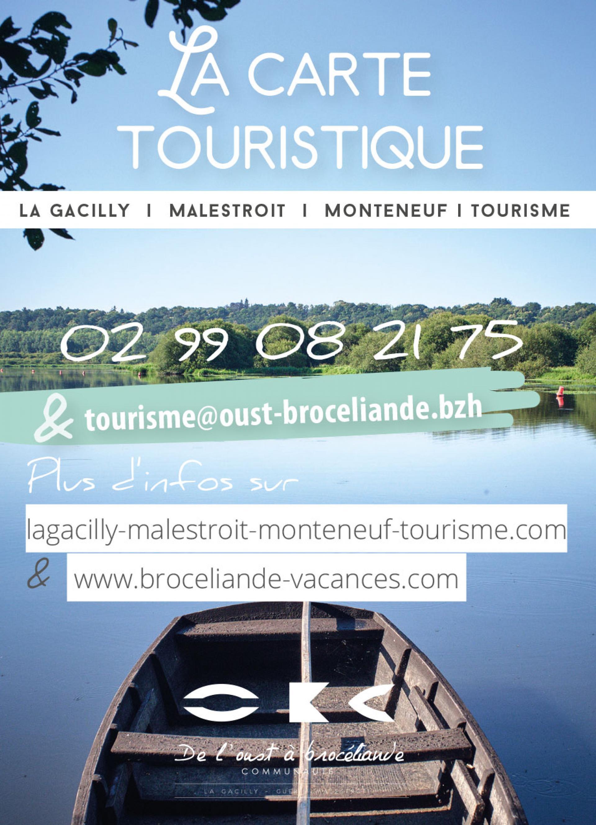 Carte La Gacilly - Malestroit - Monteneuf | Tourisme