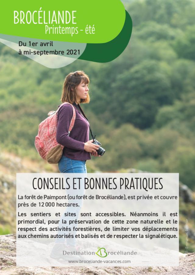 forêt de Brocéliande : conseils et bonnes pratiques printemps été 2021