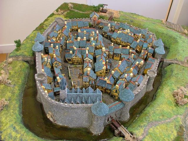 maquette Ploërmel ville fortifiée